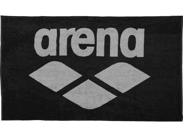 arena Pool Soft Handdoek, zwart/grijs